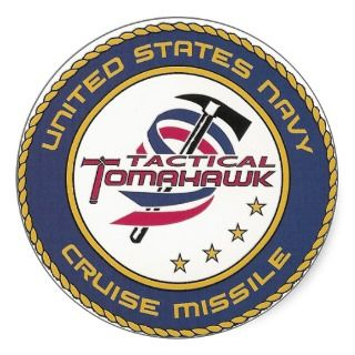 Navy Tactical Tomahawk Logo Round Sticker