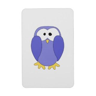 Cute Blue Penguin. Penguin Cartoon. Rectangle Magnet