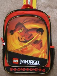 Lego Ninjago Red Ninja 16 Backpack School Book Bag