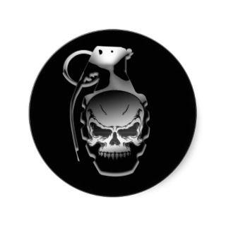 Skull Grenade Sticker