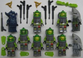 10 Lego Atlantis Minifigs Lot Figures Underwater Diver Manta Warrior