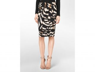 Calvin Klein Womens Abstract Leopard Print Pencil Skirt