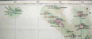 1827 Vandermaelen Map Lesser Antilles Caribbean Islands
