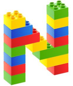 Personalised Names Lego Wall Decals Stickers Moveable and Reusable