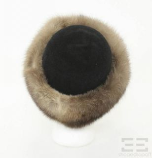 Lenore Marshall Black Velvet Brown Sable Fur Hat