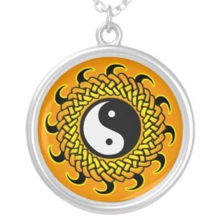 Yin Yang Braided Sun Necklace