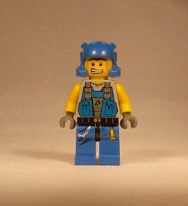 Lego Power Miners Minifig   Orange Scar Minifigure   8709 8958   Cool