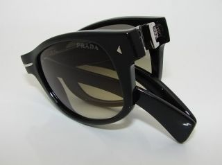 Authentic Prada Folding Black Sunglasses 14O 14OS 1AB0B1 New