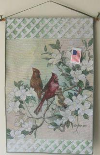 Lena Liu Cardinal Birds Nature Harmony Jacquard Tapestry Wall Hanging