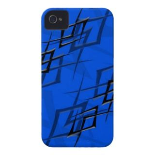 Black on Blue Thorn iPhone 4 Barely There Case iPhone 4 Cover