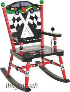 Levels of Discovery Kids Race Car Rocking Chair Rocker