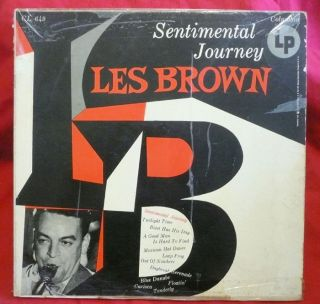 Les Brown LP Sentimental Journey Big Band 6 Eye DG VG Vinyl Record