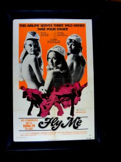 Fly Me Pat Anderson Lenore Kasdoff 27x41 Orig Poster 1973 Action Drama