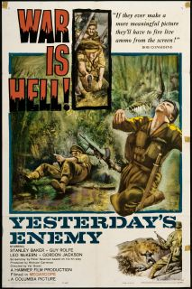 Yesterdays Enemy Original U s One Sheet Movie Poster