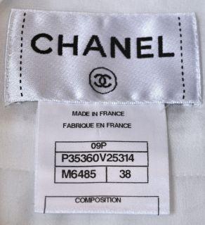 New, very rare, TRES CHIC Chanel black/white LESAGE bow dress.