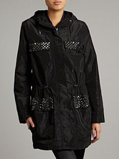 Michael Michael Kors Long sleeved anorak with gold panels Black