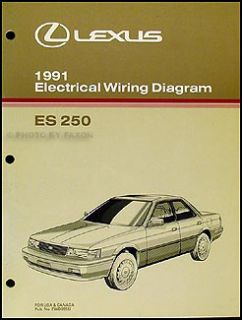 1991 Lexus ES 250 OEM Wiring Diagram Manual ES250 Original Electrical