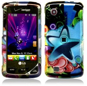 LG Chocolate Touch Hard Cover Case Shooting Blue Star