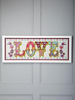 Linea Love circus print framed wall art