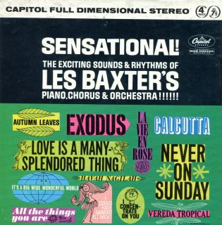 Les Baxter Sensational Capitol Stereo 7 1 2 IPS Reel to Reel Tape