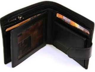 Lichfield Mens Black 1642 Coin Pocket Bifold Wallet