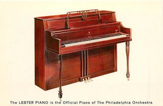 Lester Piano Betsy Ross Console Model 77 Advertising Postcard Dexter