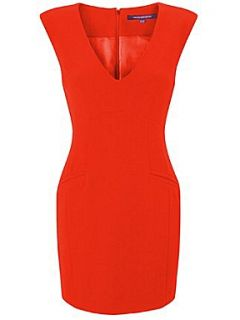 French Connection Dylan crepe sleeveless v neck dress Red