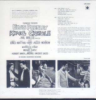 Elvis Presley King Creole LP Canada RCA LPE 1884 Tan Label Stereo