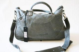 Liebeskind Esther Grey Crinkled Leather Bag