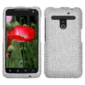 Silver Crystal Diamond Bling Hard Case Phone Cover for MetroPCS LG