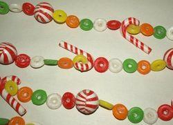 Vintage Christmas Candy Garland Life Savers Round 9