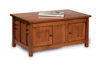 Amish Mission Lift Top Storage Coffee Table Unique Oak