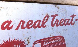 CA 1960 Tin Advertising Store Sign Gordons Potato Chips
