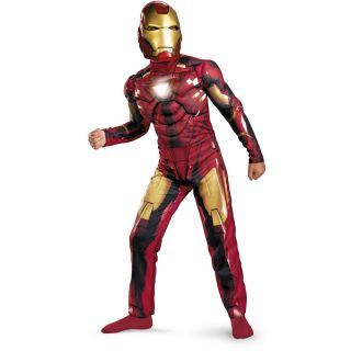 Iron Man 2 2010 Movie Mark VI Light Up Deluxe Child Costume