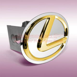 lexus embossed gold logo on polished stainless steel plate 2