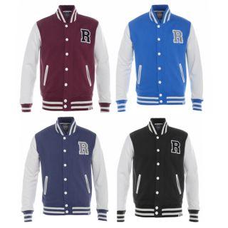 Raiken Letterman R Varsity Baseball Bomber Fleece Jacket Mens Size