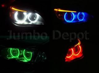 Red LED Angel Eye Halo Light Lamp Bright for BMW 525 530 540 545 550 5
