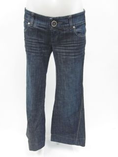 Level 99 Medium Wash Blue Denim Flared Leg Jeans Sz 25