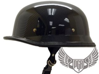 Fiber German Style Dot Motorcycle Half Helmet Chopper Airsoft
