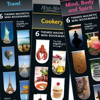 Mini Marks Magnetic Bookmark 12 Designs to Collect