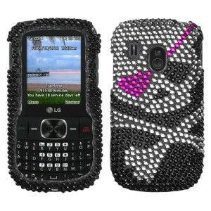 Crystal Diamond BLING Hard Case Phone Cover for Tracfone Net10 LG 500g