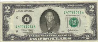 Baltimore Ravens Ray Lewis $2 Dollar Bill Mint RARE $1