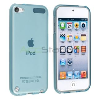 Frost Clear Light Blue TPU Skin Rubber Cover Case for iPod Touch 5 5g