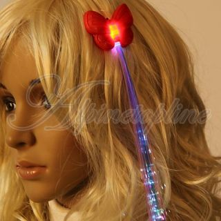 Glow Hair Clip Light Up Hair Extension Rave Party Club