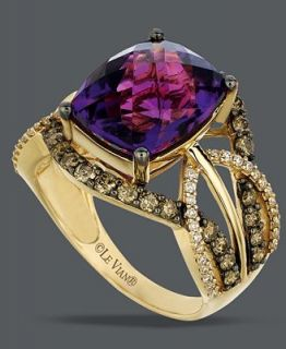 Le Vian 14k Gold Ring, Amethyst (4 5/8 ct. t.w.) and White and