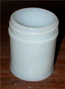 Vintage Milk Glass Cosmetic Jar Mentholatum