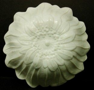 Vintage Lily Pons Indiana Opaque White Milk Glass Round Sunflower Bowl