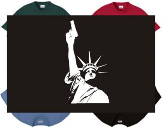 Shirt Tank Statue of Liberty Armed Political