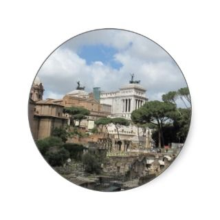 The Roman Forum   Latin Forum Romanum Round Sticker