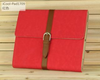 New Luxury Stand Button Smart PU Leather Case Cover for iPad 2 The New